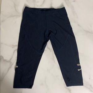 Nike Blue Crop Workout Active Leggings D4 0197